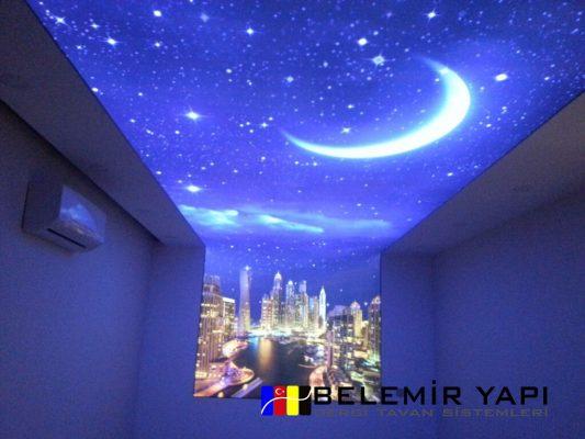 Yatak Odası Gergi Tavan Modelleri 3d