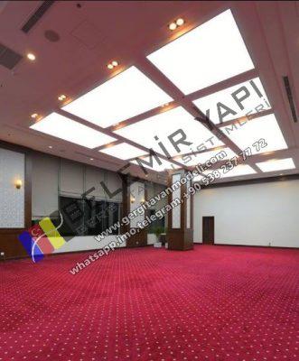 stretch ceiling systems, modern ceiling, villa decoration, villa design, cafe decoration, cafe design,