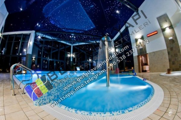 pool ceiling decoration, pool ceiling fiberoptic lighting, pool decoration, modern pool, pool price