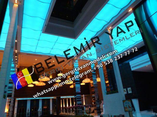 stretch ceilin, barrisol, spanndecken, elasticni plafoni, Modern decoration Bahrain
