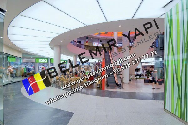 Bahrain, Manama, Al Muharraq, Ar Rifa, Dar Kulayb, Madinat Hamad, Mall Of Stretch Ceiling, lighting, Decoration