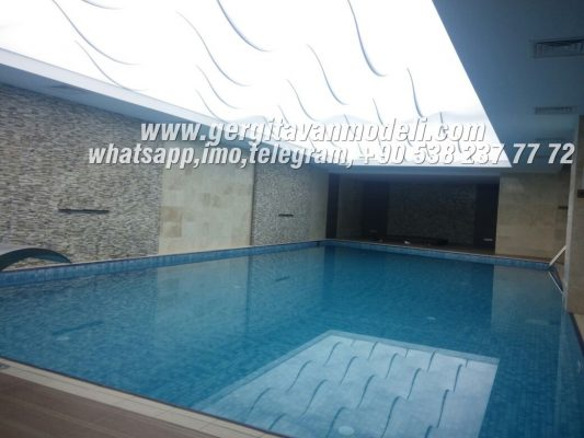 pool stretch ceiling, pool decoration, pool designh, pool lighting, modern pool, hotel pool decoration, home pool decoration, stretch ceiling systems, hotel