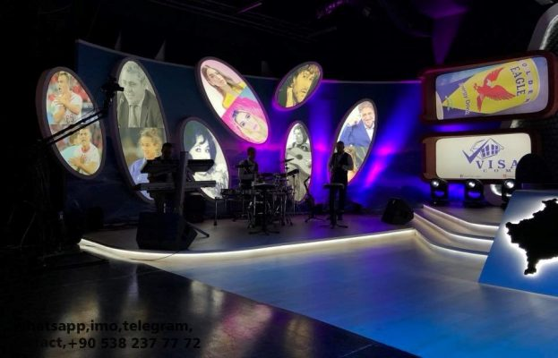 tv stüdyo tasarımları. gergi tavan, aydınlatma