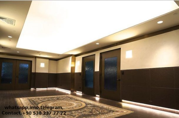 modern villa decoration, villa lighting, villa design, villa stretch ceiling, barrisol