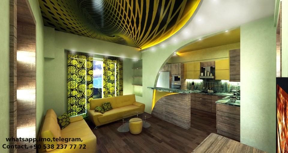 modern stretch ceiling, barrisol, lighting, decoration, design, art, interior, 3d decor
