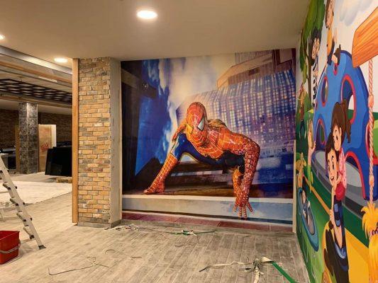Duvar Kağıdı, 3D wallpaper design, 3d Duvar Kağıdı, çocuk odası, örümcek adam